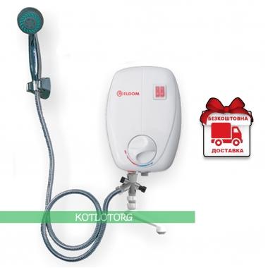 Проточный электрический водонагреватель Eldom Beta 72486C (6,5кВт)