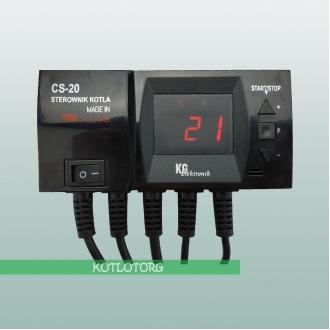 KG Elektronik CS-20 - Автоматика для твердотопливного котла