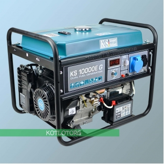 Генератор гибридный Konner & Sohnen KS 10000E G (Бензин/сжиженый газ)