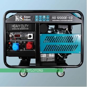 Генератор бензиновый Konner & Sohnen KS 12000E-1/3