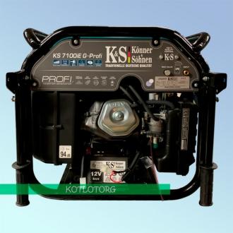 Генератор гибридный инверторный Konner & Sohnen KS 7100iEG Profi (Бензин/газ)