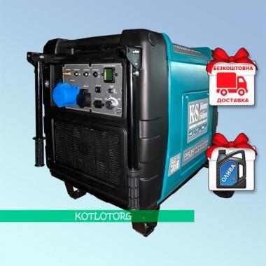 Генератор гибридный инверторный Konner & Sohnen KS 7200iEG S Profi (Бензин/газ)