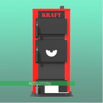 Твердотопливный котел на дровах и угле Kraft-E-New