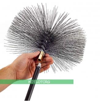 Металлический ёрш для чистки дымоходов Савент