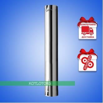 Труба дымоходная одностенная из нержавейки 1м (1мм)