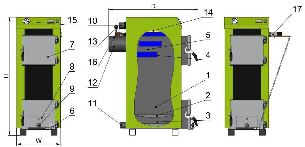 Картинки по запиту Пристрій котла Котлант типу КЕ