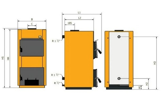 Размеры котлы Caldera CT Basic