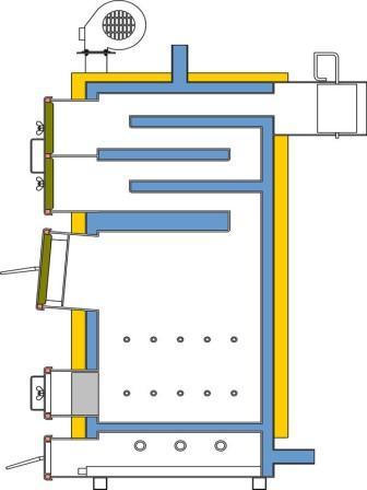 Схема котла Укртермо-200